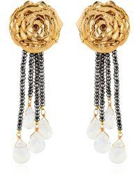 Leivan Kash - Rose Hematite Earrings - Lyst