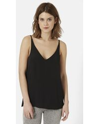 Topshop Strappy V-Neck Camisole - Lyst