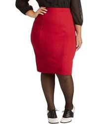 Mai Tai - Style Essential Skirt in Red Plus Size - Lyst
