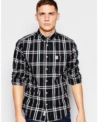 Franklin & Marshall - Tonal Check Shirt - Lyst