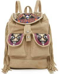 One By - Embroidered Backpack - Lyst