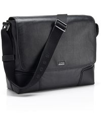 Hugo Boss Marmle   Leather Messenger Bag - Lyst