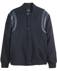 H&M Baseball Jacket blue - Lyst
