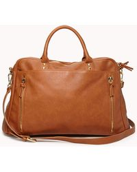 Forever 21 - Faux Leather Duffle Bag - Lyst
