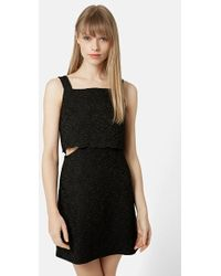 Topshop Scallop Overlay Lace Dress - Lyst