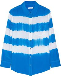Equipment Reese Striped Washed-silk Shirt - Lyst