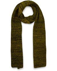 Jonathan Saunders Yellow Herringbone Merino Wool Scarf - Lyst