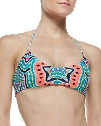 Mara Hoffman Printed/Sold Reversible Swim Top - Lyst