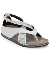 L.A.M.B. Bellatrix Leather Sandals - Lyst