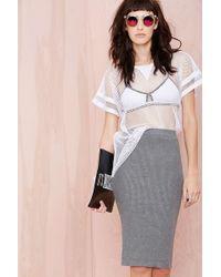 Nasty Gal Do As I Gray Skirt - Lyst