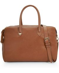 Sam Edelman | Kenmare Leather And Suede Satchel | Lyst