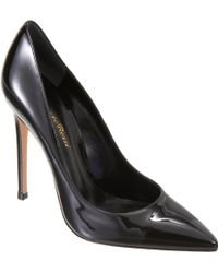 Gianvito Rossi Patent Pointed Toe Pump - Lyst