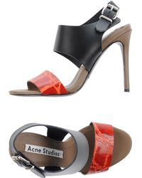 Acne Studios Sandals red - Lyst