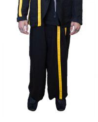 Yohji Yamamoto | Black And Yellow Trousers | Lyst