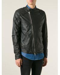 Wlg By Giorgio Brato - Off-centre Zip Biker Jacket - Lyst