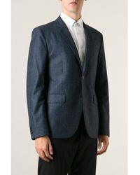 Mr Start Cheshire Blue Check Wool Jacket - Lyst