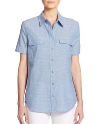 Equipment Chambray Short-Sleeve Shirt - Lyst
