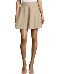 Michael Kors Flirt A-Line Skirt beige - Lyst