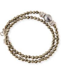 Armenta - New World Tahitian Pearl & Diamond Wrap Bracelet - Lyst