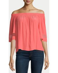 Ramy Brook | Jessa Top, Guava | Lyst