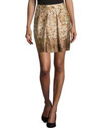 Philosophy di Alberta Ferretti Floral-Print Pleated Skirt - Lyst