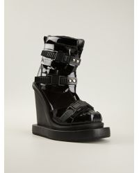 KTZ - Buckled Wedge Boots - Lyst
