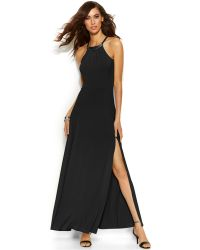 Michael Kors Michael Hardware Halter Maxi Dress - Lyst