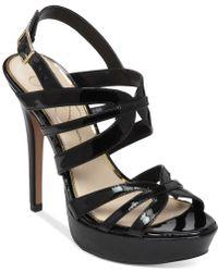 Jessica Simpson Binnie Caged Platform Sandals - Lyst