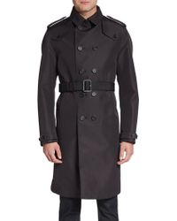 Burberry Prorsum Double Breasted Trench Coat - Lyst