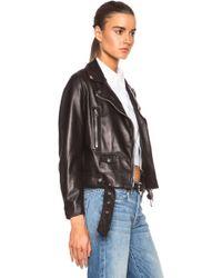 Acne Studios Mock Light Leather Jacket - Lyst
