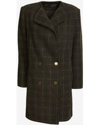 Jenni Kayne - Double Breasted Plaid Coat - Lyst