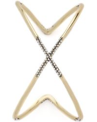 House of Harlow 1960 - Sound Waves Cuff Bracelet - Gold/clear - Lyst