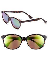 Isaac Mizrahi New York - Retro Sunglasses - Dark Tortoise/ Mirror - Lyst