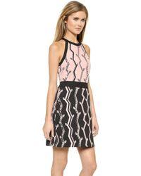 3.1 Phillip Lim Two Tone Halter Dress - Blackpink - Lyst