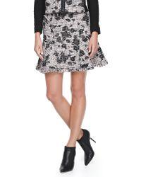 Rebecca Taylor Flocked Tweed Skirt - Lyst