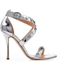 Rupert Sanderson Metallic Leather Sandals - Lyst