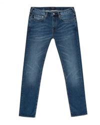 Paul Smith Slim-Fit Mid-Wash Stretch-Denim Jeans - Lyst