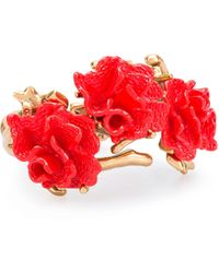 Oscar de la Renta Resin Coral Bracelet - Lyst