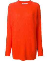 T By Alexander Wang Ribbed-knit Long Sweater - Lyst