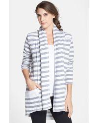 Hard Tail Stripe Shawl Collar Cardigan - Lyst