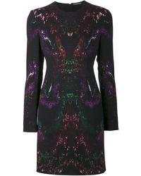 Alexander McQueen Mixed Print Dress - Lyst