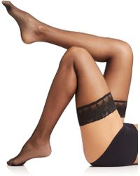 Falke Peacock 8 Stay-Up Thigh Highs - Lyst