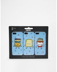Asos Peanut Butter Jam And Toast Iphone 5 Triple Pack - Lyst