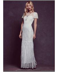 Free People Womens Sophia Lace Dress - Lyst