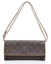 Louis Vuitton Preowned Monogram Canvas Twin Gm Bag - Lyst