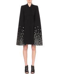 Gareth Pugh Embellished Crepe Cape - For Women black - Lyst