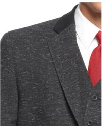 Sean John - Charcoal Donegal Chesterfield Vested Suit - Lyst