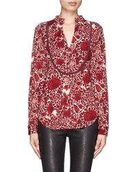 Tory Burch Lizzy Floral and Butterfly Print Tunic - Lyst