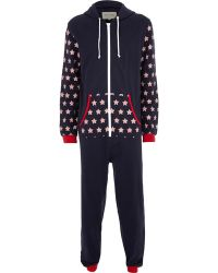 River Island Navy Stars  Stripes All-in-one - Lyst