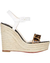 Christian Louboutin Spachica Wedge Espadrille Sandals multicolor - Lyst